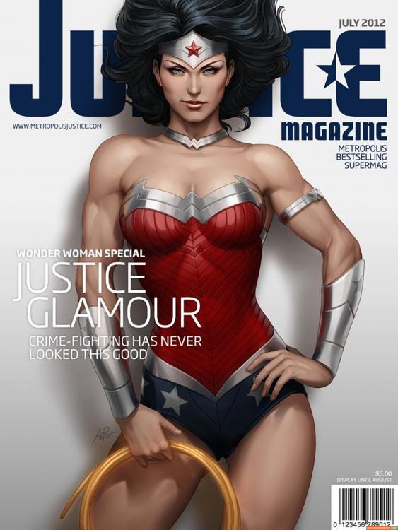 la mujer maravilla protagonizando la portada de la revista Justice