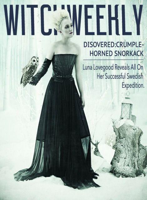 Luna Lovegood como portada de la revista witchweekly