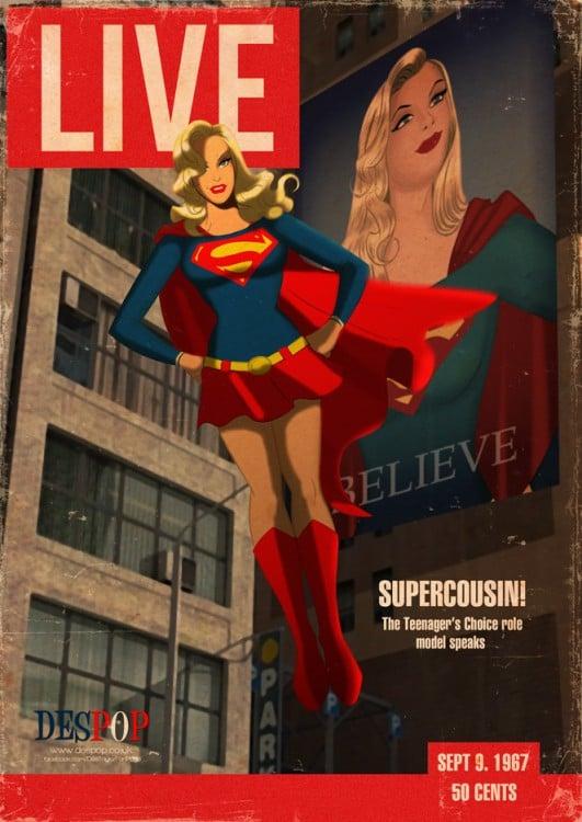 animación de la super chica en la portada de la revista live