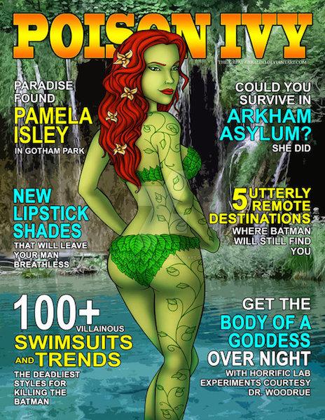 animación de hiedra venenosa en la portada de la revista poison Ivy