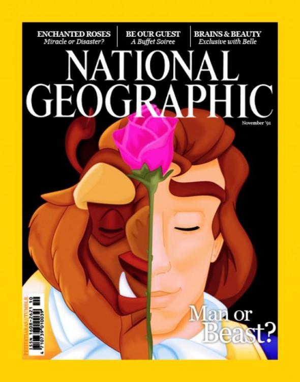fotografía de bestia en la revista de National Geographic