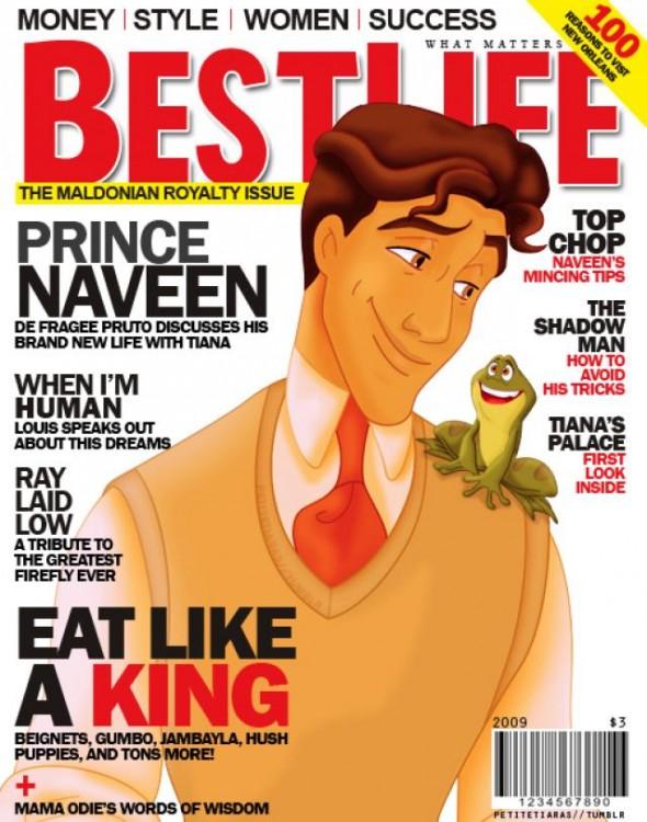 Princípe Naveen en la portada de la revista BestLife