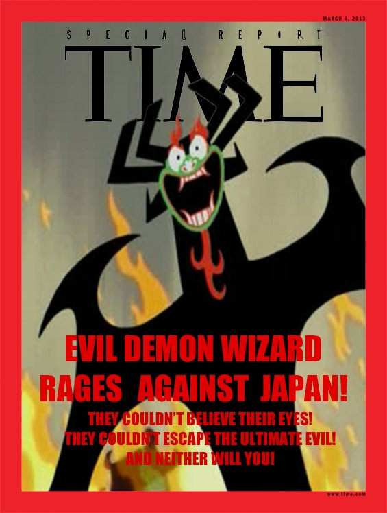 aku en la portada de la revista Time
