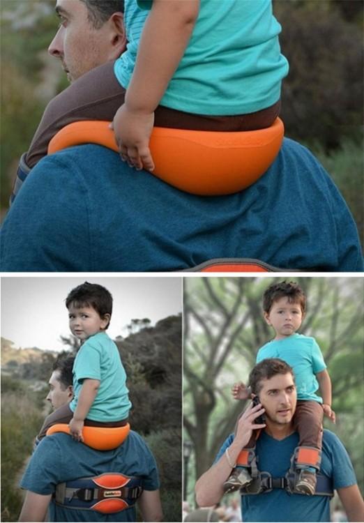 asiento ideal para hombres que cargan a sus hijos en los hombros