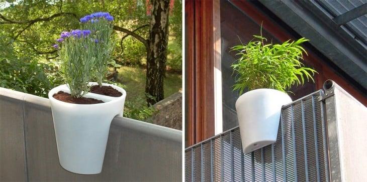 diseños de macetas ideales para colgar en los balcones