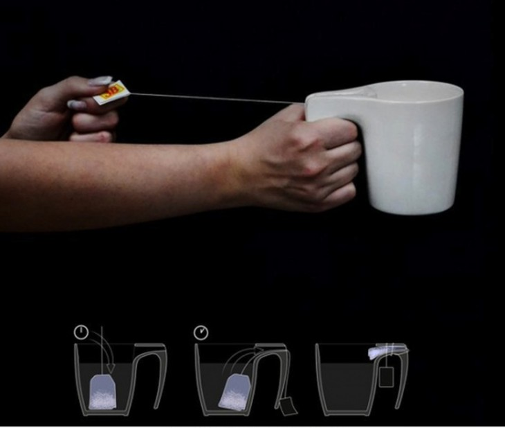 Tasa ideal para exprimir las bolsas de té