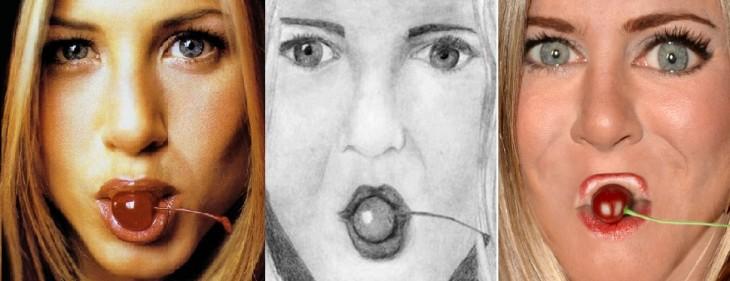 Jennifer Aninston en dibujo