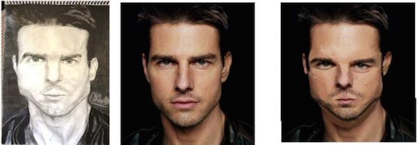 TOM CRUISE EN DIBUJO