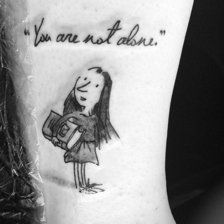 tatuaje inspirado en MAtilda