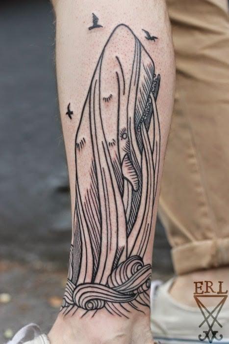 tatuaje inspirado en mobydick