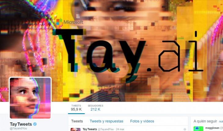 Tay el robot de inteligencia artificial nazi de Microsoft en Twitter
