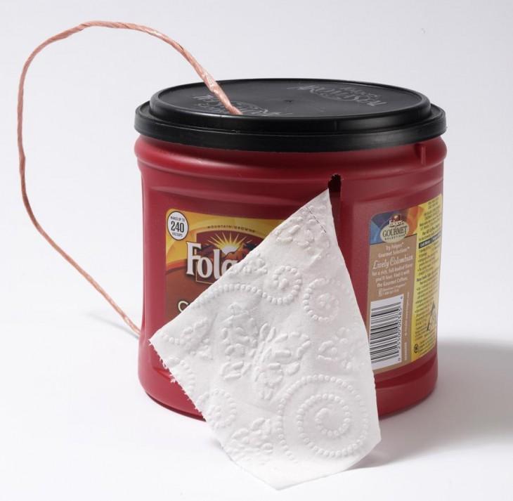 contenedor de papel higiénico