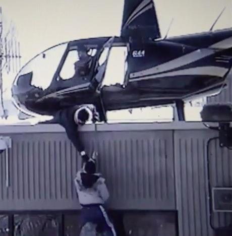 captura del video donde dos presos en Canadá intentaron escapar