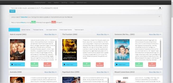 sitio what is my movie buscando películas de Hugh Jackman