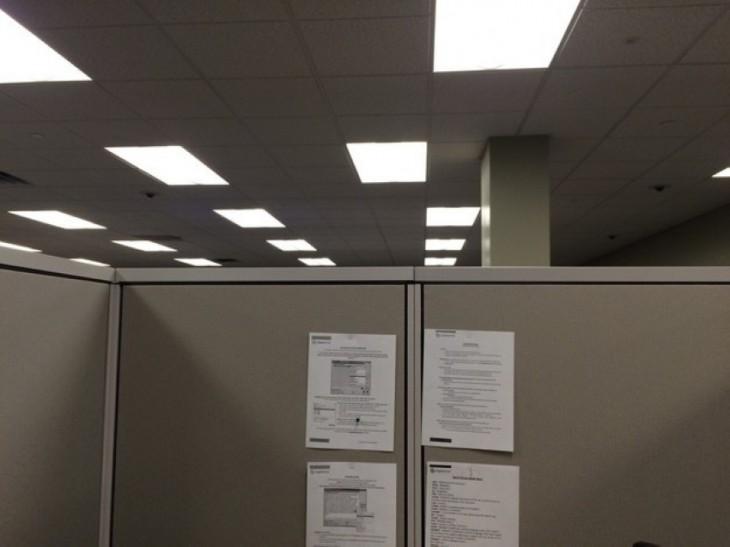 Lámparas de oficina chuecas
