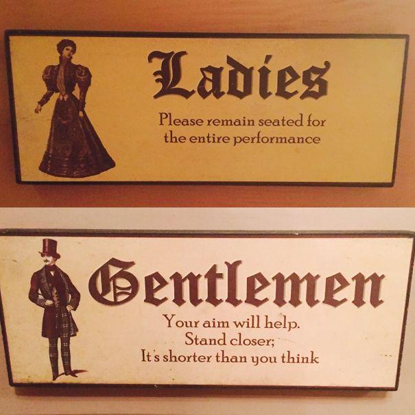 Letreros de baños damas y caballeros
