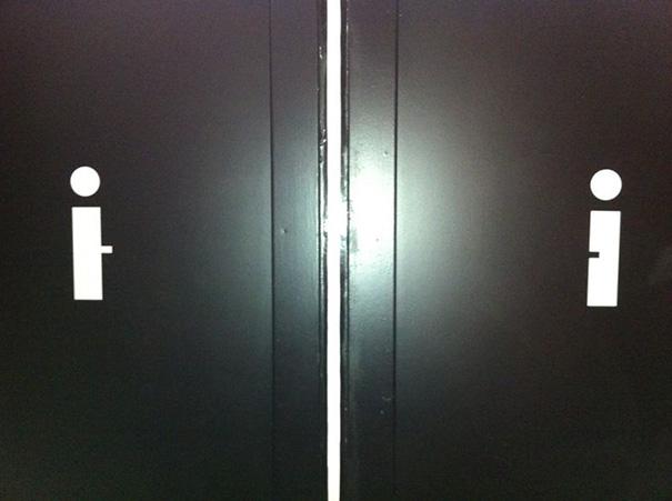 letreros de baños, barras y puntos