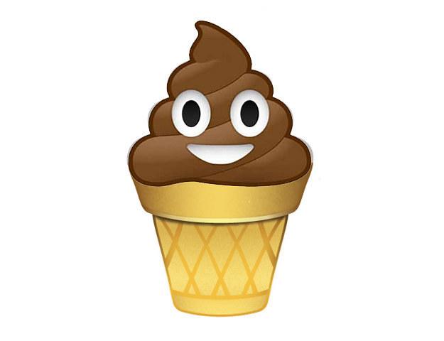 emoticon de whatsapp de nieve de chocolate sonriente