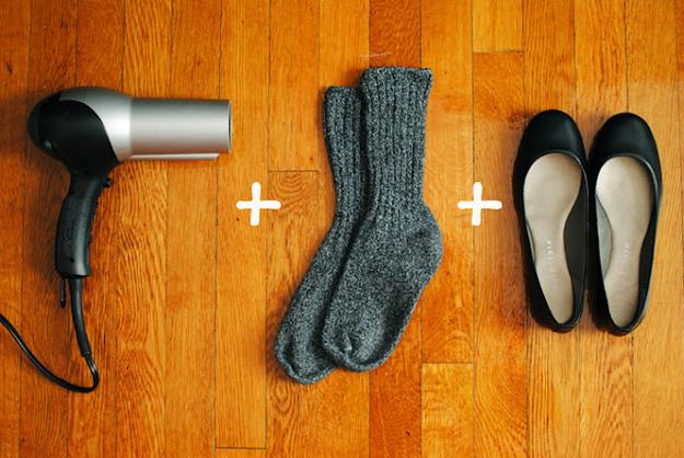 secadora + calcetines + zapatos