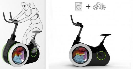 Bicicleta lavadora para hacer ejercicio