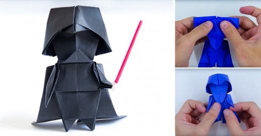 origami de Darth Vader
