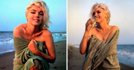 última sesión fotográfica de Marilyn Monroe; 3 semanas antes de su muerte