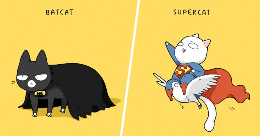 Si los gatos fueran superhéroes