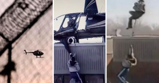Video de la fuga en helicóptero de unos presos enCanadá