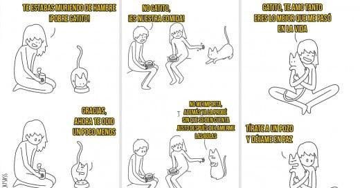 pensamientos que tiene tu gato