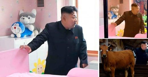 Kim Jong Un, fumando en un orfanato es victima de batalla de photoshop