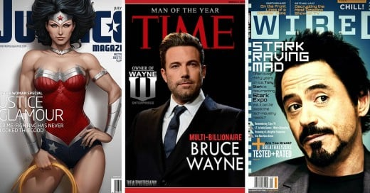 Portadas de revistas con personajes de peliculas