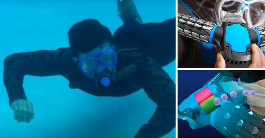 Aparato que te permite respirar bajo el agua