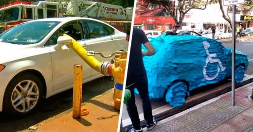 Personas que fueron trolleadas por estacionarse donde no debían karma