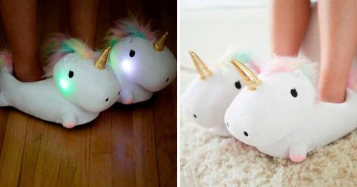 pantuflas de unicornio