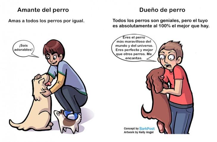 amante de perro ama a todos los perros por igual dueño de perro cree que el suyo es el mejor