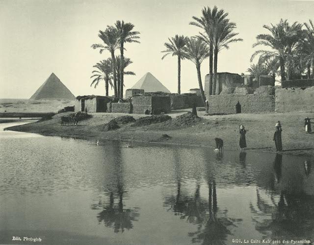 el cairo, cerca de las pirámides