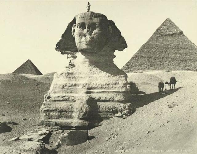 esfinge y pirámides de kefren y micerino