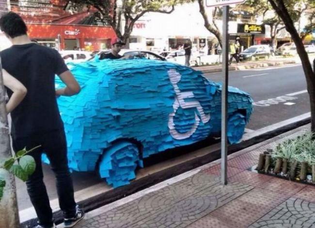 No se volverá a estacionar en un lugar para discapacitados