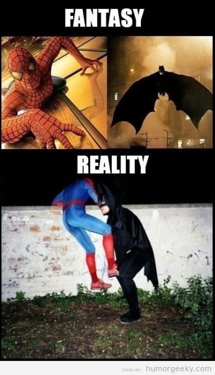 Batman y Spiderman, a la mexicana