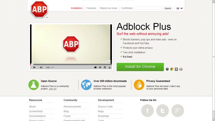 extensión Chrome AdBlock Plus