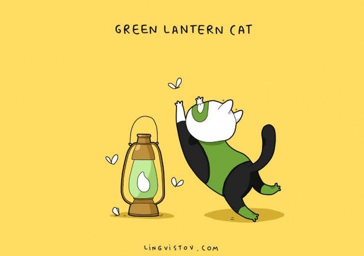 Green Lantern Cat Lingvistov