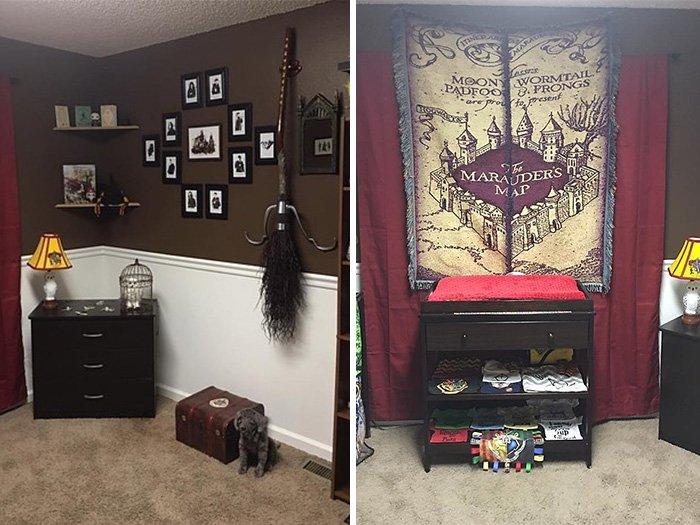 cuarto decorado harry potter