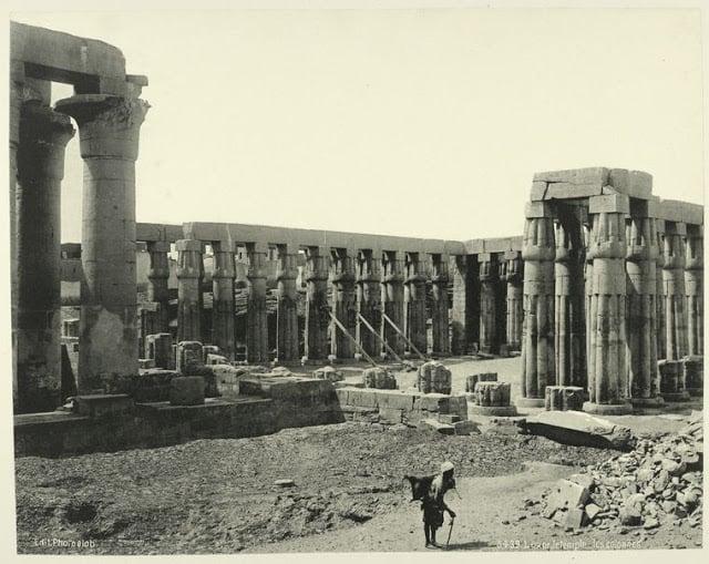 luxor, templo y columnata