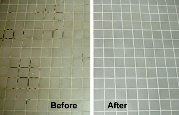 azulejos limpios antes y después
