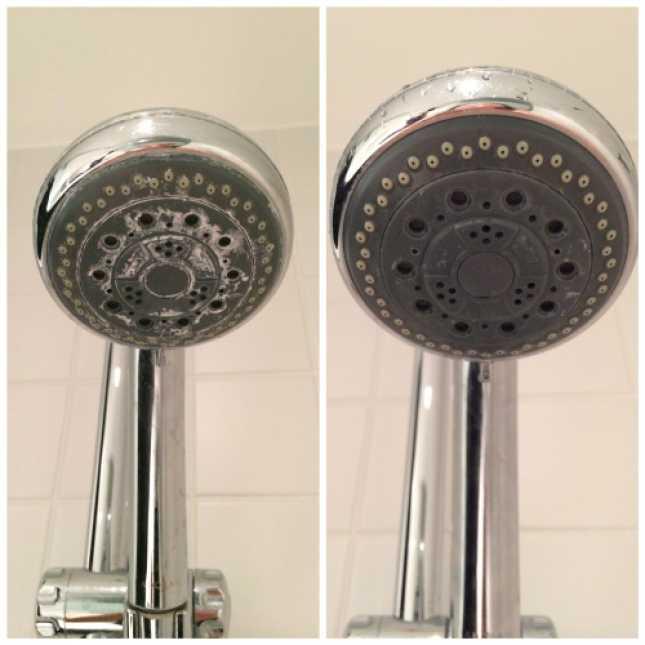 Limpiar Regadera De Baño:Qué me dices de cuando logras quitar todo el moho de los