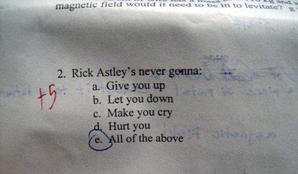 Un admirador de Rick Astley