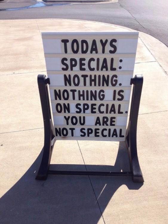 especial del dia: nada es especial