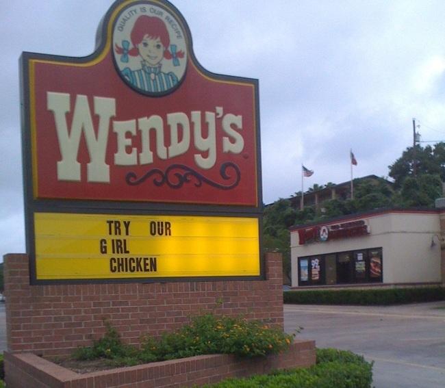 menú wendys: prueba nuestra chica pollo