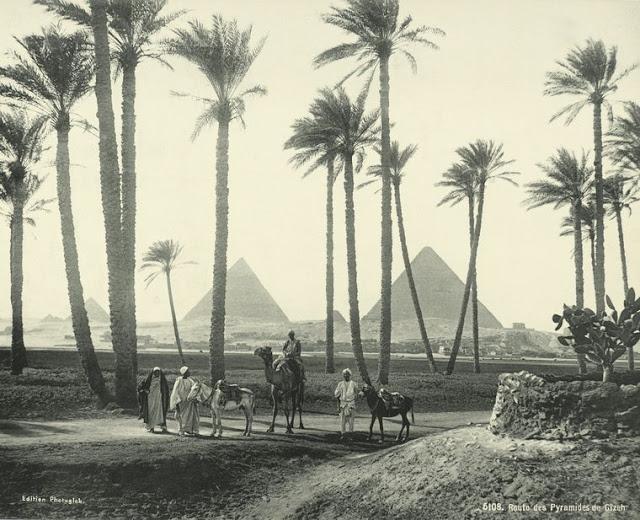 ruta de las piramides de giza
