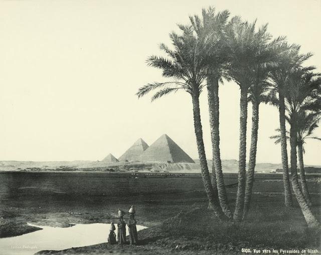 vista de las piramides de giza